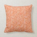 orange creme floral design pillow