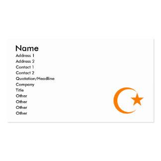 Orange Crescent & Star.png Business Card Templates