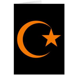 Orange Crescent & Star.png Card