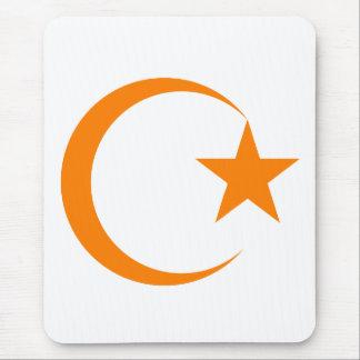 Orange Crescent & Star.png Mousepads