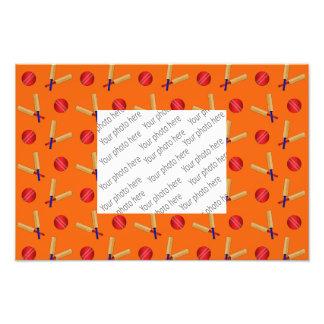 orange cricket pattern photographic print