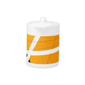 Orange Criss Cross Teapot