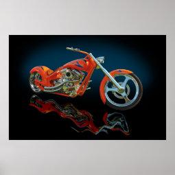 Orange cruished print
