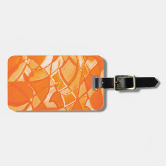 Orange Crush Abstract by Kara Willis Bag Tag