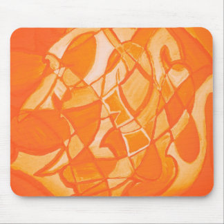 Orange Crush Abstract by  Kara Willis Mouse Pad