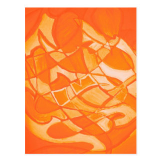 Orange Crush Abstract by  Kara Willis Postcard