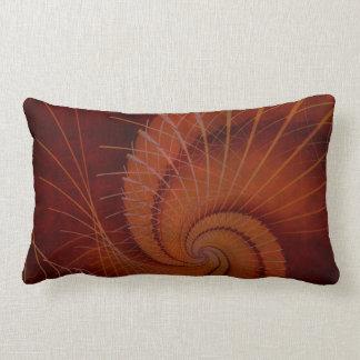 Orange Crush Abstract Decor Lumbar Pillow