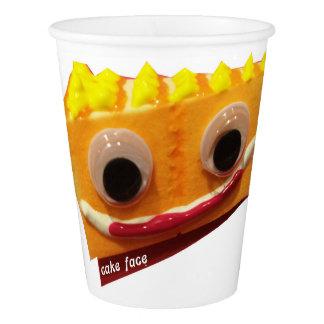 Orange Crush Cake Face Paper Cup