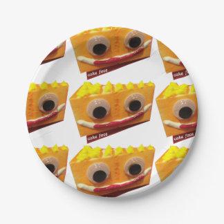 Orange Crush Cake Face Paper Plates