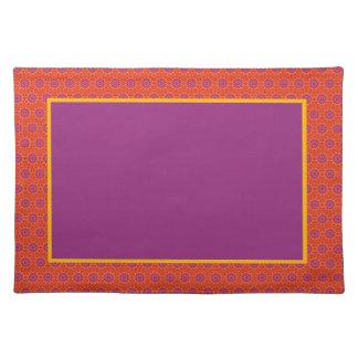 Orange Crush Placemat Cloth Placemat