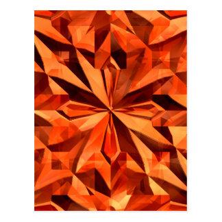 Orange Crystal Postcard