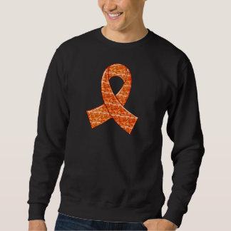 Orange Crystal Ribbon Kidney Cancer MS Leukemia Sweatshirt