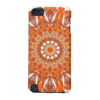 Orange Crystal Wheel Mandala, Abstract Flame iPod Touch 5G Covers