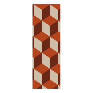 Orange cubes business card templates