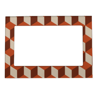 Orange cubes magnetic photo frame
