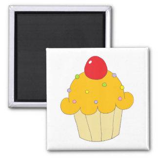 Orange Cupcake 2 Inch Square Magnet