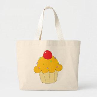 Orange Cupcake Canvas Bags