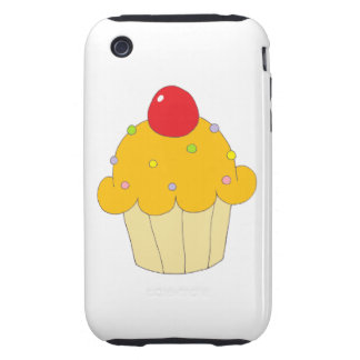 Orange Cupcake Tough iPhone 3 Case