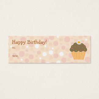 Orange Cupcake Gift Tag