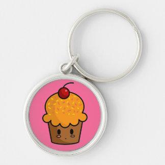 Orange Cupcake Keychain