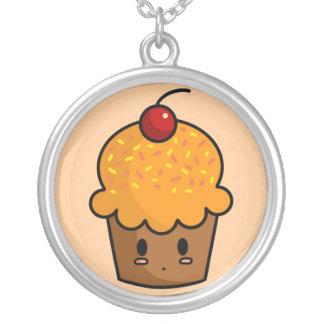Orange Cupcake Necklace
