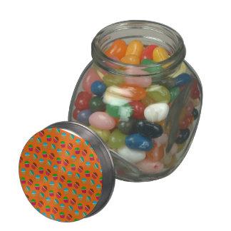 Orange cupcake pattern jelly belly candy jars