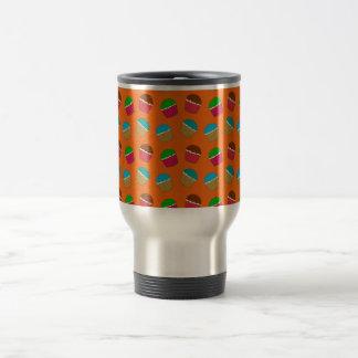 Orange cupcake pattern coffee mugs