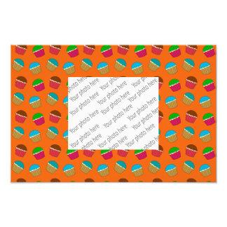 Orange cupcake pattern photograph