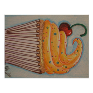 Orange Cupcake Postcard