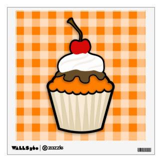 Orange Cupcake Wall Decal
