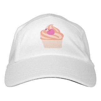 Orange Cupcake with Pink Cherry and Orange Stripes Hat