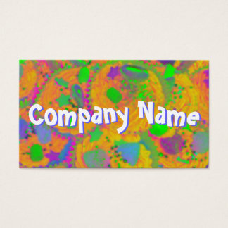 Orange Cupcakes front text business card white