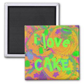 Orange Cupcakes 'i love cake'  fridge magnet