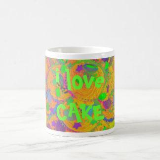 Orange Cupcakes 'i love cake' mug