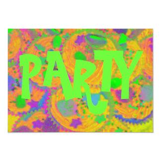 Orange Cupcakes 'Party' invitation