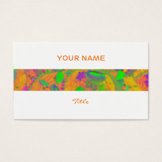 Orange Cupcakes stripe business card white back