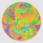Orange Cupcakes 'Your Text' sticker