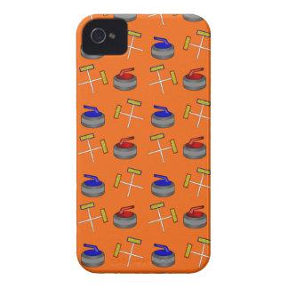 orange curling pattern iPhone 4 cover