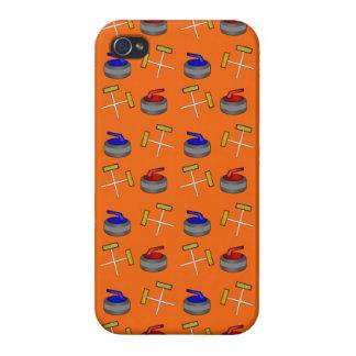 orange curling pattern iPhone 4/4S case