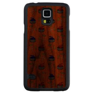 Orange curling pattern carved® walnut galaxy s5 case