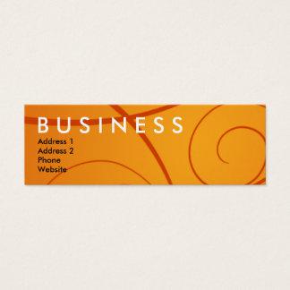 Orange Curly Business Card