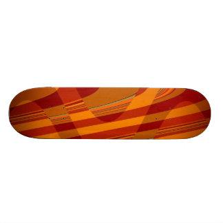 Orange Curves Skate Decks