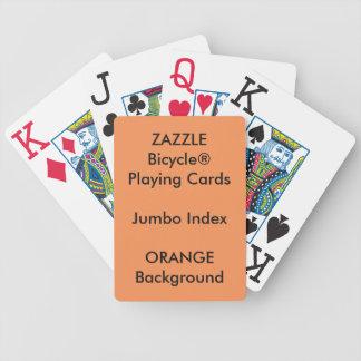 ORANGE Custom Bicycle® Jumbo Index Playing Cards