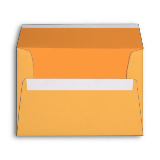 Orange Custom Invitation / Greeting Card Envelopes