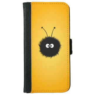 Orange Cute Fluffy Dazzled Bug Wallet Phone Case For iPhone 6/6s