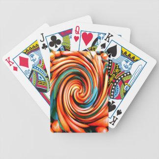 Orange Cyclone. Bicycle Playing Cards