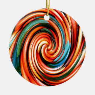 Orange Cyclone. Ceramic Ornament
