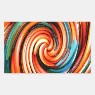 Orange Cyclone. Rectangular Sticker