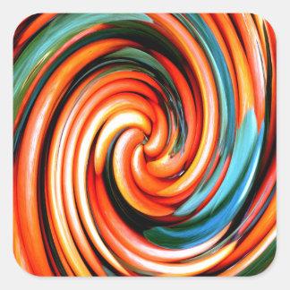 Orange Cyclone. Square Sticker