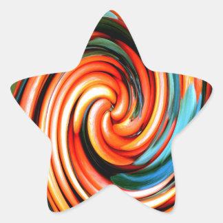 Orange Cyclone. Star Sticker